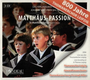CD-Cover Matthäus-Passion