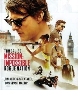 Blue-Ray Cover: Mission Impossible - Rogue Nation