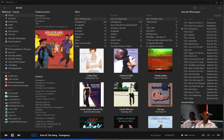 Screenshot MusicBee 3.0