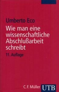 Buchcover: Wie man eine wissenschaftliche Abschlußarbeit schreibt - Umberto Eco