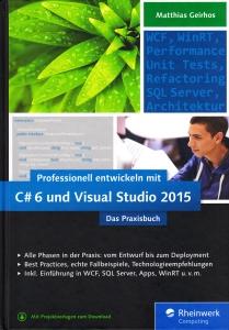 Titelseite: Professionell Entwickeln mit C#6 und Visual Studio 2015