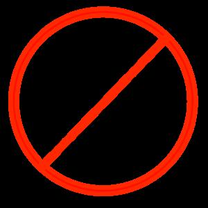 Logo: Keine Werbung