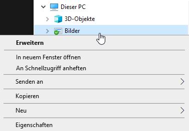 Dieser PC - Bilder - Eigenschaften